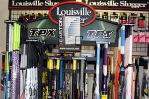 Easton and Louisville Slugger at Sports World
